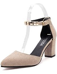 WHL Shoes Meine Damen Sandalen Hang Mit Geschlitzten Hasp Bequem Atmungsaktiv Rutschfeste Blau 35