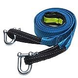 Shiwaki Sangle de Remorque en Cas d'urgence pour Voiture avec Crochets en U Bleu 8T...