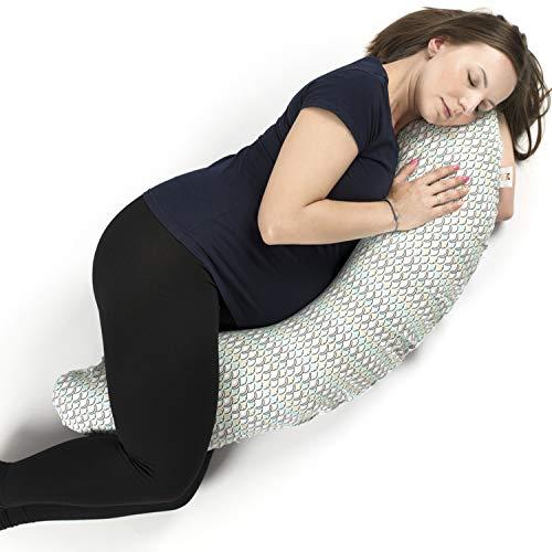 Almohada de Maternidad, Almohada de Embarazo y Cojín de Lactancia (3 en 1) para Embarazas - Garantizada sin Productos Químicos y Fabricada en Europa - Almohada para Lactancia Silenciosa y Cómoda