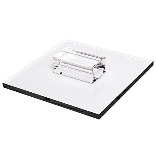 Acryl Stempel-Block mit Griff, 16 x 16 x 0,8 cm, transparent | Scrapbooking, DIY, Embossing, Stempeln, Silikonstempel -