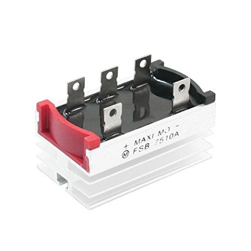 Preisvergleich Produktbild sourcingmap® 5,5 mm Loch Dmr drei Phasen Brückengleichrichter mit Kühlkörper 75A 1000V