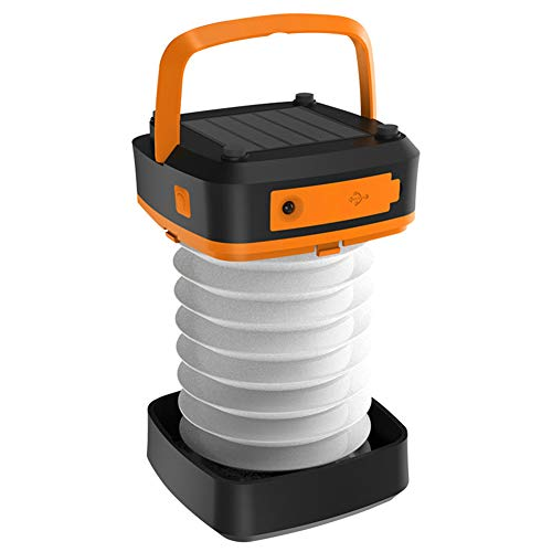 HUANGLP LED Camping Lantern Solar,Lantern Rechargeable USB,Portable Outdoor Camping Gear Equipment For Hiking, Emergencies, Hurricanes, Outages, Storms,Orange