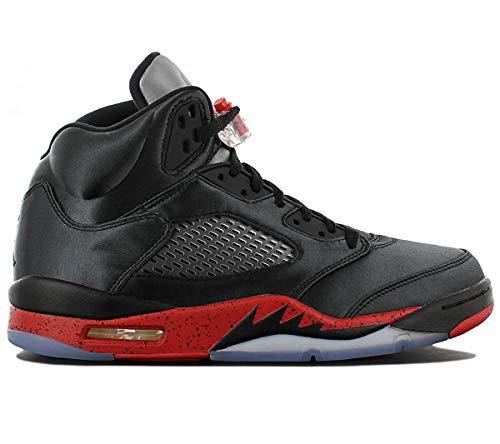 Jordan Retro 8 Schuhe (Nike Herren Air Jordan 5 Retro Fitnessschuhe, Schwarz (Black/University Red 006), 46 EU)