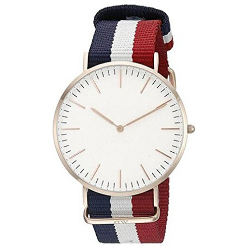Bvm Fashion Analogue Round White Dial Men's Watch - Dw_Blue,Red,White