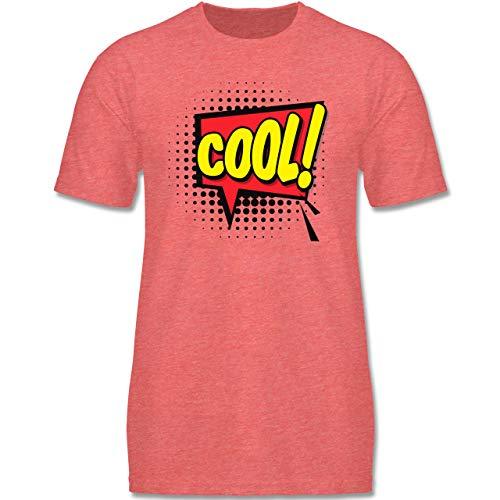 Kindergarten - Popart Karneval Kostüm COOL! - 152-164 (12-14 Jahre) - Rot meliert - F140K - Jungen T-Shirt