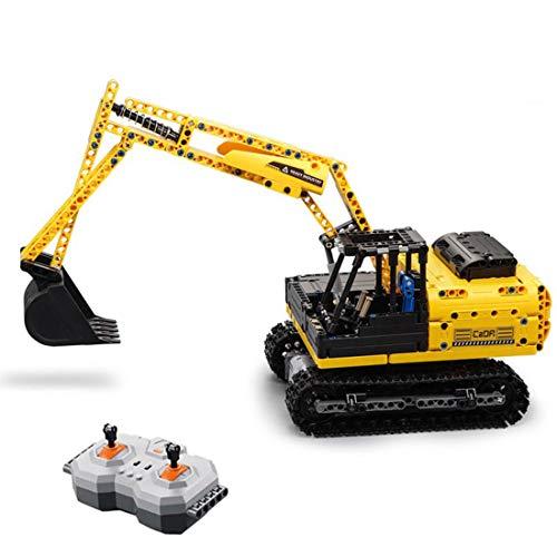 YOU339 544Pcs Bausteine Building Block, 2.4G Raupenbagger Bauen RC-Baufahrzeug zusammen, Fernbedienung Spielzeugmodell, DIY pädagogischer Ziegelstein spielt Geschenk