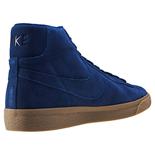 Nike Herren Blazer Mid Premium Sneakers, Schwarz Blau (Binary Blue/binary Blue-gum Lt Brown)