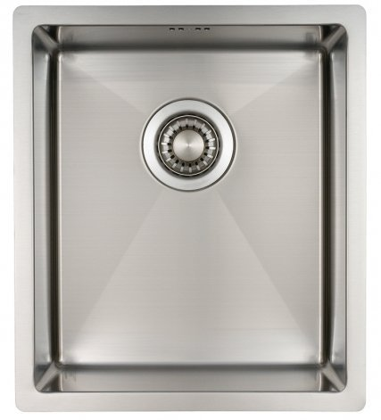 Kitchen Sink Mizzo Design - One/Single Bowl Square Stainless Steel Kitchen Sink- For both undermount and flushmount installation - Satin