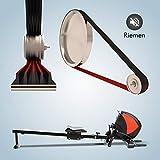 AsVIVA Rudergerät RA8 schwarz   Magnetbremse mit 8 Widerstandsstufen, inkl. Pulsempfänger für optionale Brustgurte (Pulsgurt) natürlich klappbar   Heimtrainer Rower - 4
