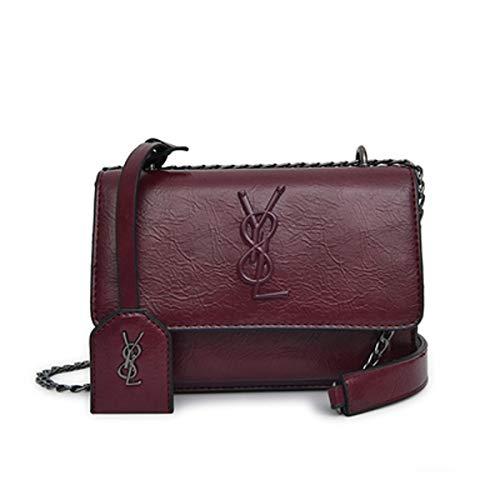te Gesteppte Umhängetasche Mini Cross Body Damen Handtasche Clutch Classic Abendtasche Wickeltaschen Henkeltaschen Rucksäcke Wickeltaschen mit Schnallen Lila Leder, 22 * 6 * 15CM ()
