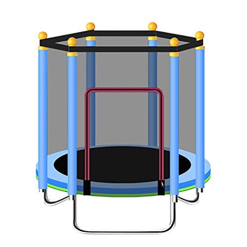 YGUOZ Trampolin für Kinder, Indoor Outdoor Jumper Trampolin, Trampolin Set mit Sicherheitsnetz, Sprungmatte, Hochfeste Federn und U-förmigem Stahlrahmen,Blue_48in