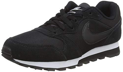 Nike MD Runner 2, Zapatillas de Running Mujer, Negro Black / Black-White, 38 EU