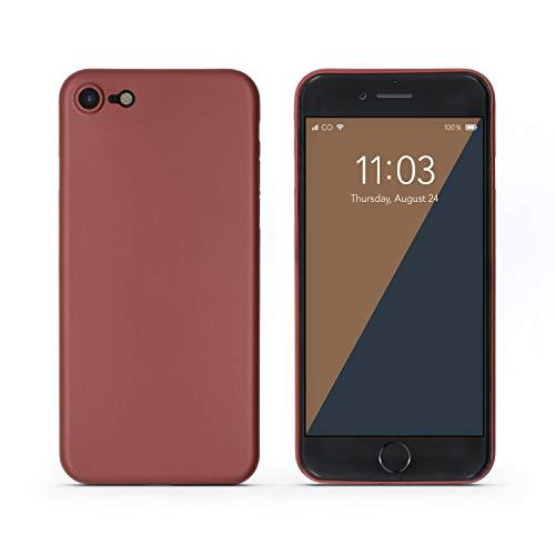 Preisvergleich Produktbild C0V3R Case Hülle kompatibel mit iPhone 7 / 8,  extrem dünn (0, 3 mm),  schützt vor Kratzer / Stöße,  rot