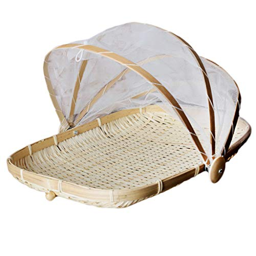 SZETOSY cesta de bambú para tienda de campaña