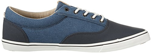 Jack & Jones Jfwvision Washed Canvas Suede Mix Navy, Sneakers Basses Homme Bleu (Navy Blazer)