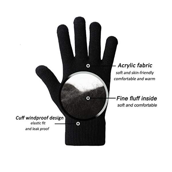 abbigliamento uomo guanti donna invernali touch screen caldi accessori uomo e donna supporto smartphone e tablet idee… 3 spesavip