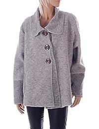 Damen Wollmantel Wolljacke zum Knöpfen Einheitsgröße: 36/42