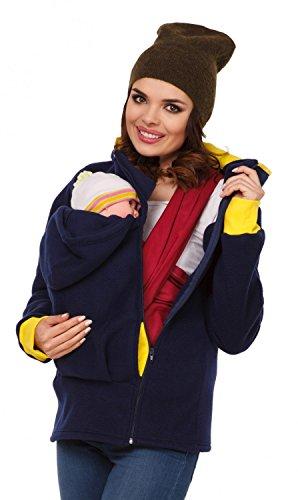 Zeta Ville - Sudadera capucha portabebé bolsillo funcional - para mujer - 032c (Negro, EU 42/44, XL)