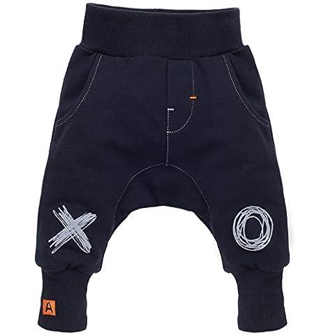 Pinokio - Xavier - Baby Hose 100% Baumwolle,dunkelblau-schwarz - Jogginghose,