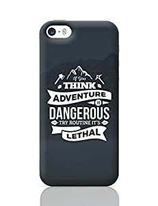 "PosterGuy iPhone 5 / iPhone 5S Case Cover - ""If You Think Adventure . . . "" Quote with Mountain Background 