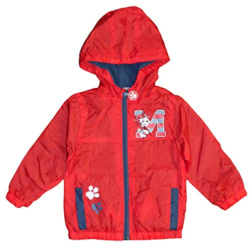 Nickelodeon Paw Patrol Kids Water Resistant Light Jacket with Fleece Lining