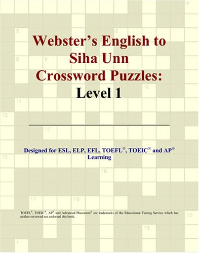 Webster's English to Siha Unn Crossword Puzzles: Level 1 thumbnail