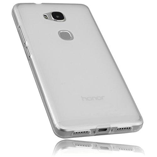 mumbi Schutzhülle für Huawei Honor 5X Hülle transparent weiss