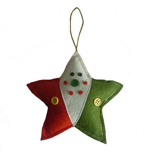 Frauen Niedlichen Kostüm Weihnachtsmann - MA87 Weihnachtsbaum Niedlichen Anhänger Weihnachten Pfirsich Herz fünfzackigen Stern Anhänger Spielzeug (B)