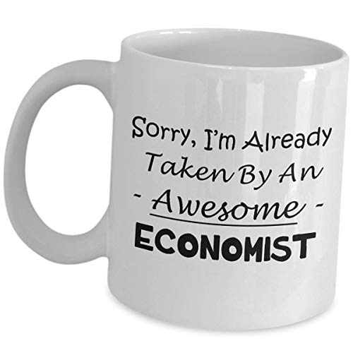 Economist tazza regalo per da fidanzati marito moglie–Sorry im già da–caffè tè bere economici economici Analista finanziari come visto su magliette da uomo e da donna divertente carino regali