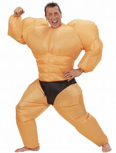 Widmann 7551Y - Kostüm Bodybuilder, ausfblasbar, One (Kostüme Bodybuilder Aufblasbare)