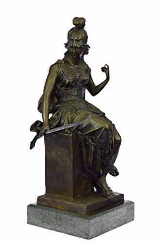 Handmade Bronze Skulptur Bronze Statue Weibliche griechischen Krieger Marmor Mythische Figur Abbildung Art-JPyrd-867- Decor Sammler Geschenk
