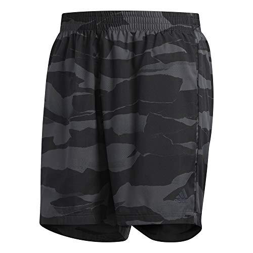 adidas Run It Short Camo Men Shorts, Herren L Mehrfarbig (Grey six/Black)