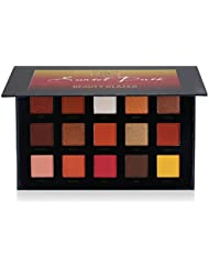 Qyee 6 Couleurs Beauty Glazed Eyeshadow Pressed Powder Palete Sunset Fards à paupières Contour Pressé Palette...