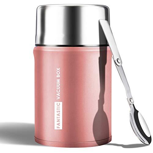 WisFox 750ML Thermobehälter für Essen Edelstahl Thermo Speisebehälter...