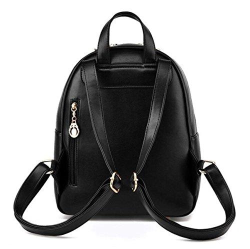 Dame Hit Farbe Schultertasche Student Tasche Handtasche Reise Sport Rucksack White
