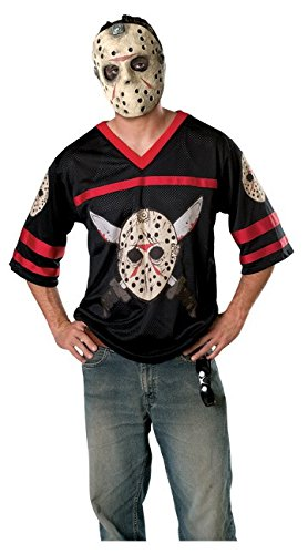 Jason Voorhees Hockey Maske & Hemd Herren Gr. XS , (13th Friday The Kostüm Party)