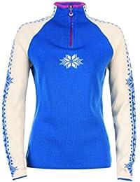 Dale of Norway - Jersey para mujer Geilo, color cobalto/blanco roto, talla L, 82311-H