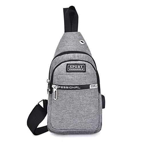 Hippie Wildleder-schulter-tasche (FREEML Die Neue koreanische Version der Wilden intelligenten USB-Ladetasche Outdoor Herren Taschenlampe Rucksack Tasche Oxford wasserdicht)