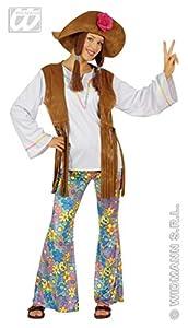 WIDMANN Señoras Woodstock Hippie Mujer Traje grande del Reino Unido 14-16 de 60s 70s Hippy vestido de lujo