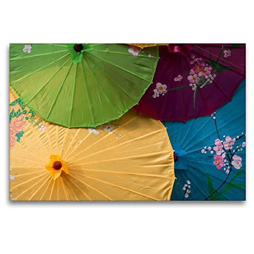 Premium Textil-Leinwand 120 x 80 cm Quer-Format Sonnenschirme | Wandbild, HD-Bild auf Keilrahmen, Fertigbild auf hochwertigem Vlies, Leinwanddruck von Alain Gaymard