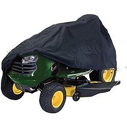 Housse de Tondeuse à Gazon, Housse de Tracteur de pelouse résistante en Tissu Oxford imperméable et Anti-UV 210D résistant à la poussière pour Jardin extérieur L Voir Image