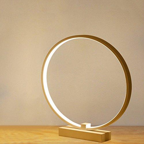 JIAHONG Lampada da tavolo a led, lampada da tavolo creativa rotonda a forma di letto a camera da letto, lampada da tavolo in acrilico per la trasmissione ad alta luminosità (bianco, a 360 ° rotazione) ( Color : Warm light )