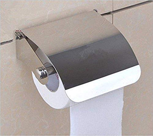 SBD Stainless Steel Multipurpose Bathroom Toilet Tissue Paper Napkin Holder (Easy Refill with Lid Small)