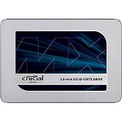 Crucial CT500MX500SSD1(Z) SSD interne MX500 (500Go, 3D NAND, SATA, 2,5 pouces)