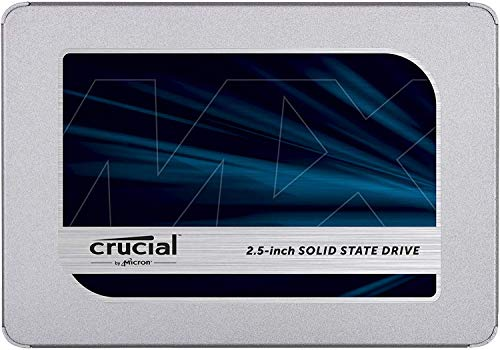 Crucial MX500 CT500MX500SSD1(Z) 500GB (3D NAND, SATA, 2,5 Zoll, Internes SSD)