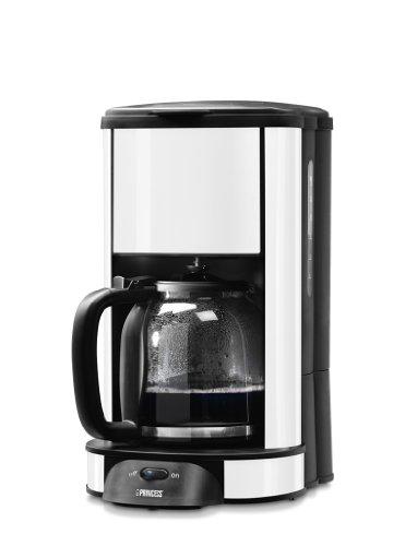 Princess 242650 - Cafetera (Independiente, Cafetera de filtro, Color blanco, Acero inoxidable, Semi-automática, De café molido)