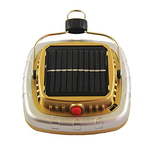 Cikuso Cob Solar Laternen Led Zelt Camping Lampe USB Taschen Lampe Akku Zelt Licht Golden