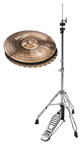 """Paiste 900 Series 14"""" Sound Edge Hi-Hat Becken Set (handgehämmert, dunkles Finish, inkl. HiHat-Maschine)"""