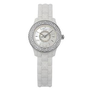 VIII Mother of Pearl White Hi Tech Ceramic Diamond Ladies Watch