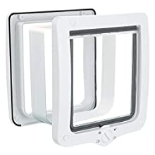 Trixie 4-Way Cat Flap with Tunnel, White, 660 g